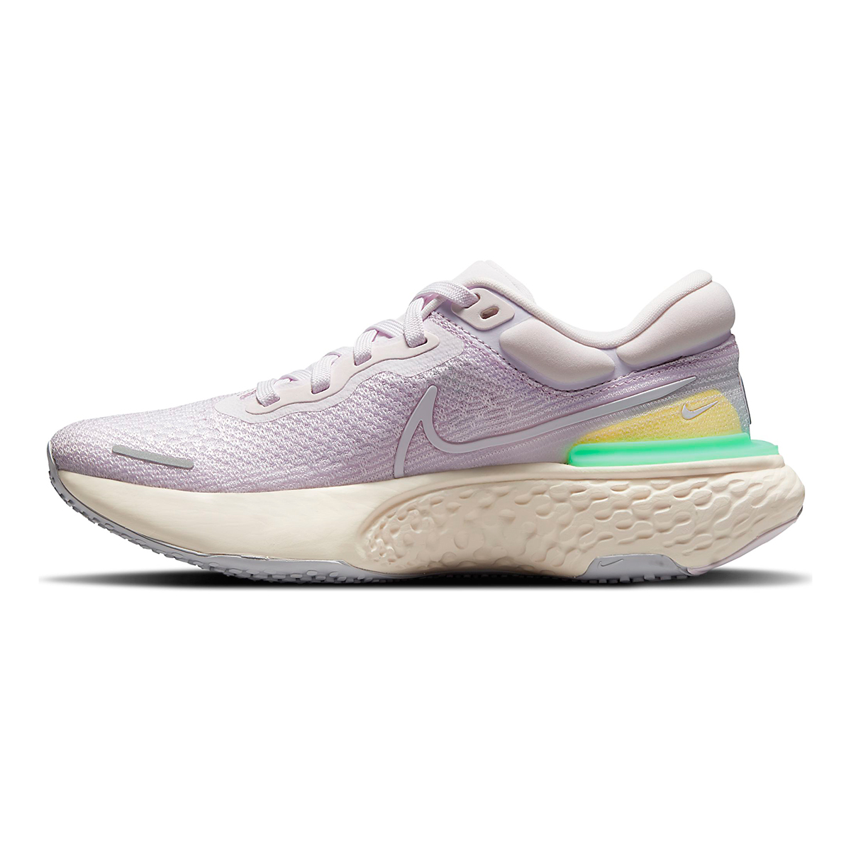 Women's Nike Zoomx Invincible Run FlyKnit Running Shoe - Color: Light Violet/White/Infinite Lilac - Size: 5 - Width: Regular, Light Violet/White/Infinite Lilac, large, image 2