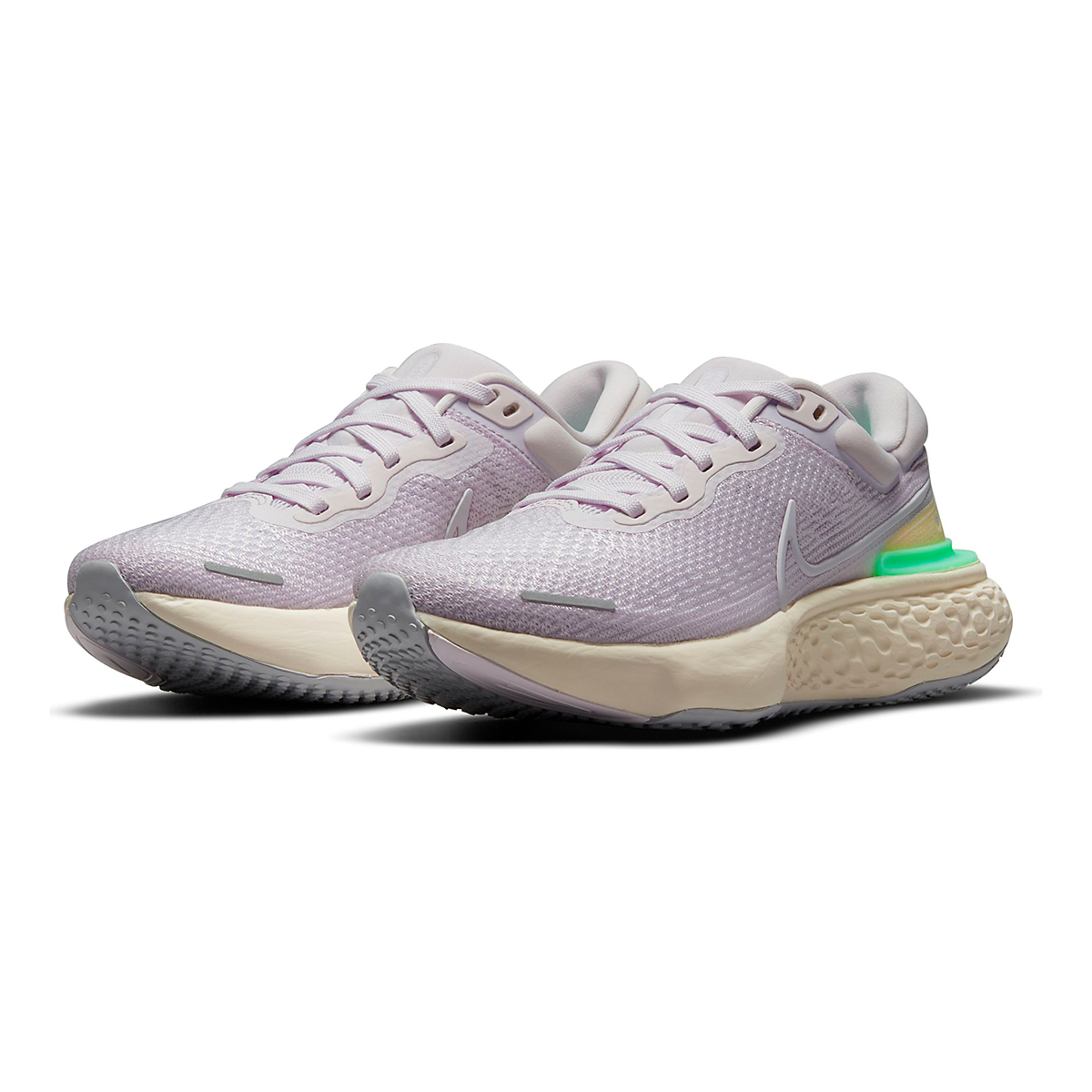 Women's Nike Zoomx Invincible Run FlyKnit Running Shoe - Color: Light Violet/White/Infinite Lilac - Size: 5 - Width: Regular, Light Violet/White/Infinite Lilac, large, image 3