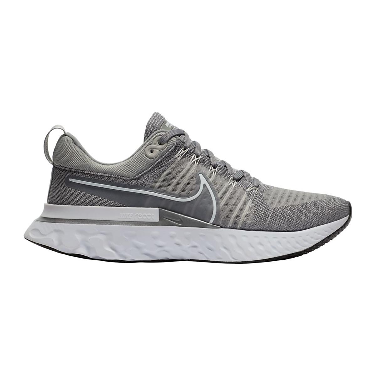 Men's Nike React Infinity Run Flyknit 2 Running Shoe - Color: Particle Grey/White/Grey Fog/Black - Size: 7.5 - Width: Regular, Particle Grey/White/Grey Fog/Black, large, image 1