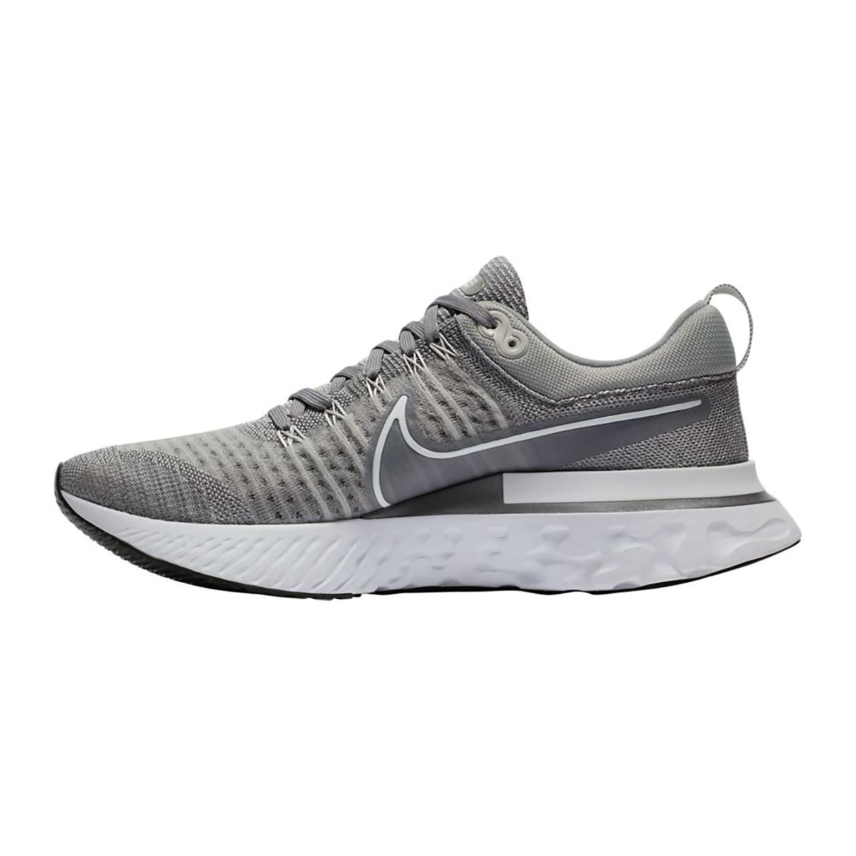 Men's Nike React Infinity Run Flyknit 2 Running Shoe - Color: Particle Grey/White/Grey Fog/Black - Size: 7.5 - Width: Regular, Particle Grey/White/Grey Fog/Black, large, image 2