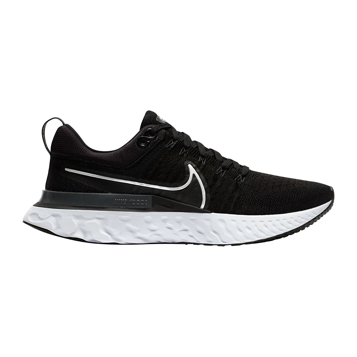 Men's Nike React Infinity Run Flyknit 2 Running Shoe - Color: Black/White/Iron Grey - Size: 6 - Width: Regular, Black/White/Iron Grey, large, image 1