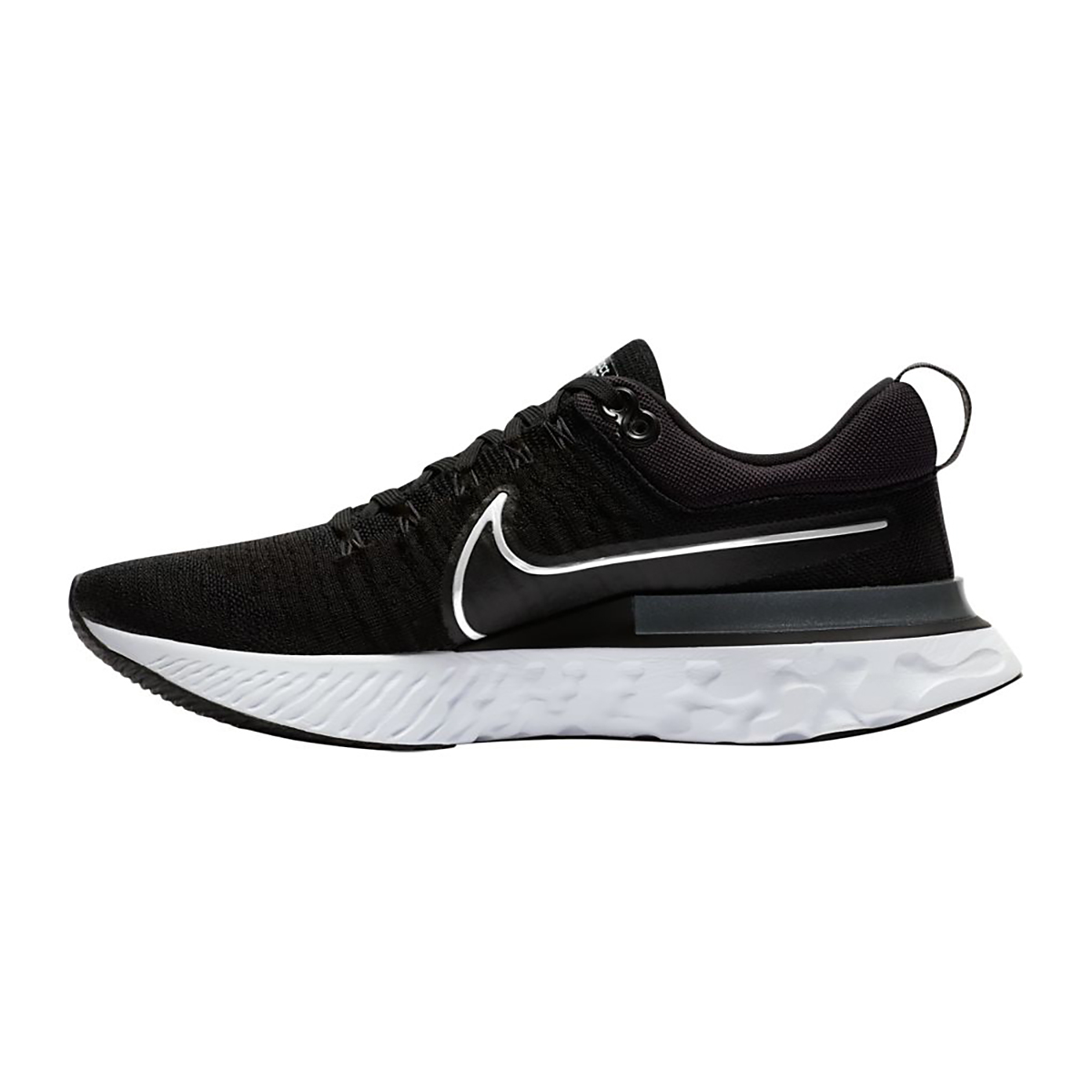 Men's Nike React Infinity Run Flyknit 2 Running Shoe - Color: Black/White/Iron Grey - Size: 6 - Width: Regular, Black/White/Iron Grey, large, image 2