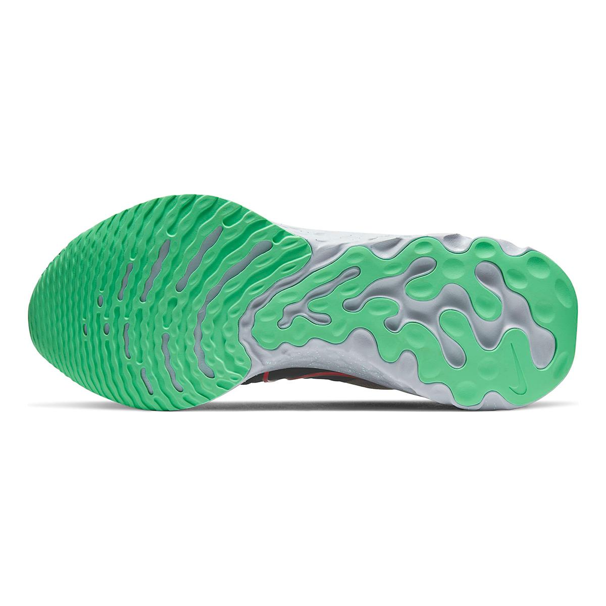 Men's Nike React Infinity Run Flyknit 2 Running Shoe - Color: Ridgerock/Chile Red/Black/Green Glow - Size: 6 - Width: Regular, Ridgerock/Chile Red/Black/Green Glow, large, image 3