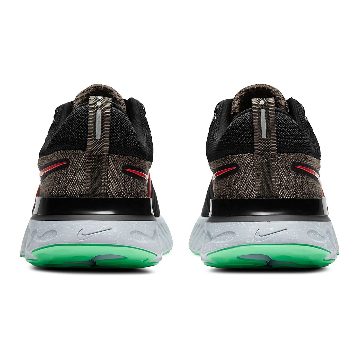 Men's Nike React Infinity Run Flyknit 2 Running Shoe - Color: Ridgerock/Chile Red/Black/Green Glow - Size: 6 - Width: Regular, Ridgerock/Chile Red/Black/Green Glow, large, image 5