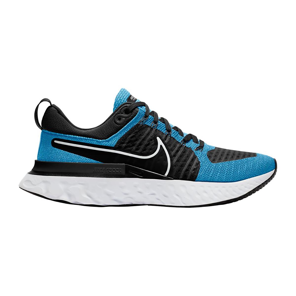 Men's Nike React Infinity Run Flyknit 2 Running Shoe - Color: Blue Orbit/White - Size: 8 - Width: Regular, Blue Orbit/White, large, image 1