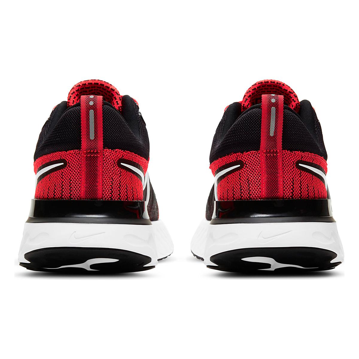 Men's Nike React Infinity Run Flyknit 2 Running Shoe - Color: Bright Crimson/White/Black/Smike Grey - Size: 6 - Width: Regular, Bright Crimson/White/Black/Smike Grey, large, image 4