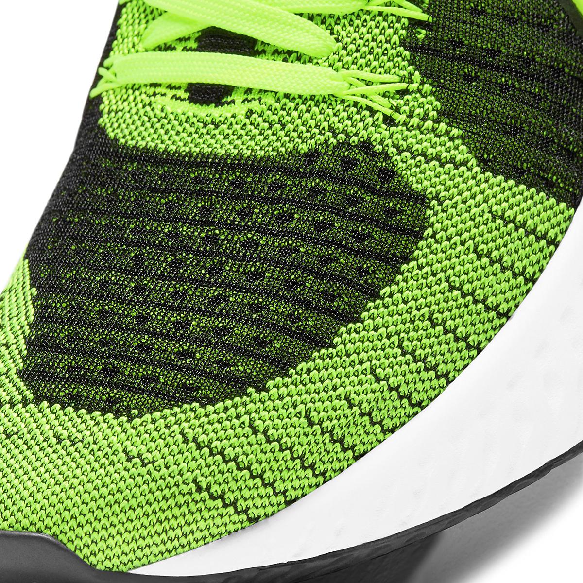 Men's Nike React Infinity Run Flyknit 2 Running Shoe - Color: Volt/Black - Size: 6 - Width: Regular, Volt/Black, large, image 4