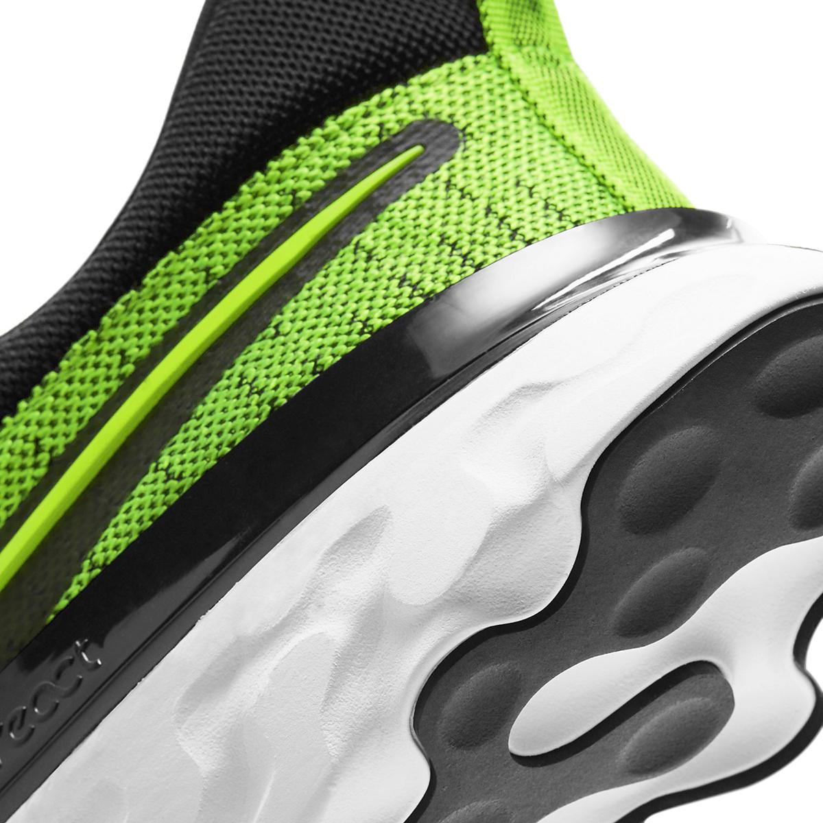 Men's Nike React Infinity Run Flyknit 2 Running Shoe - Color: Volt/Black - Size: 6 - Width: Regular, Volt/Black, large, image 5