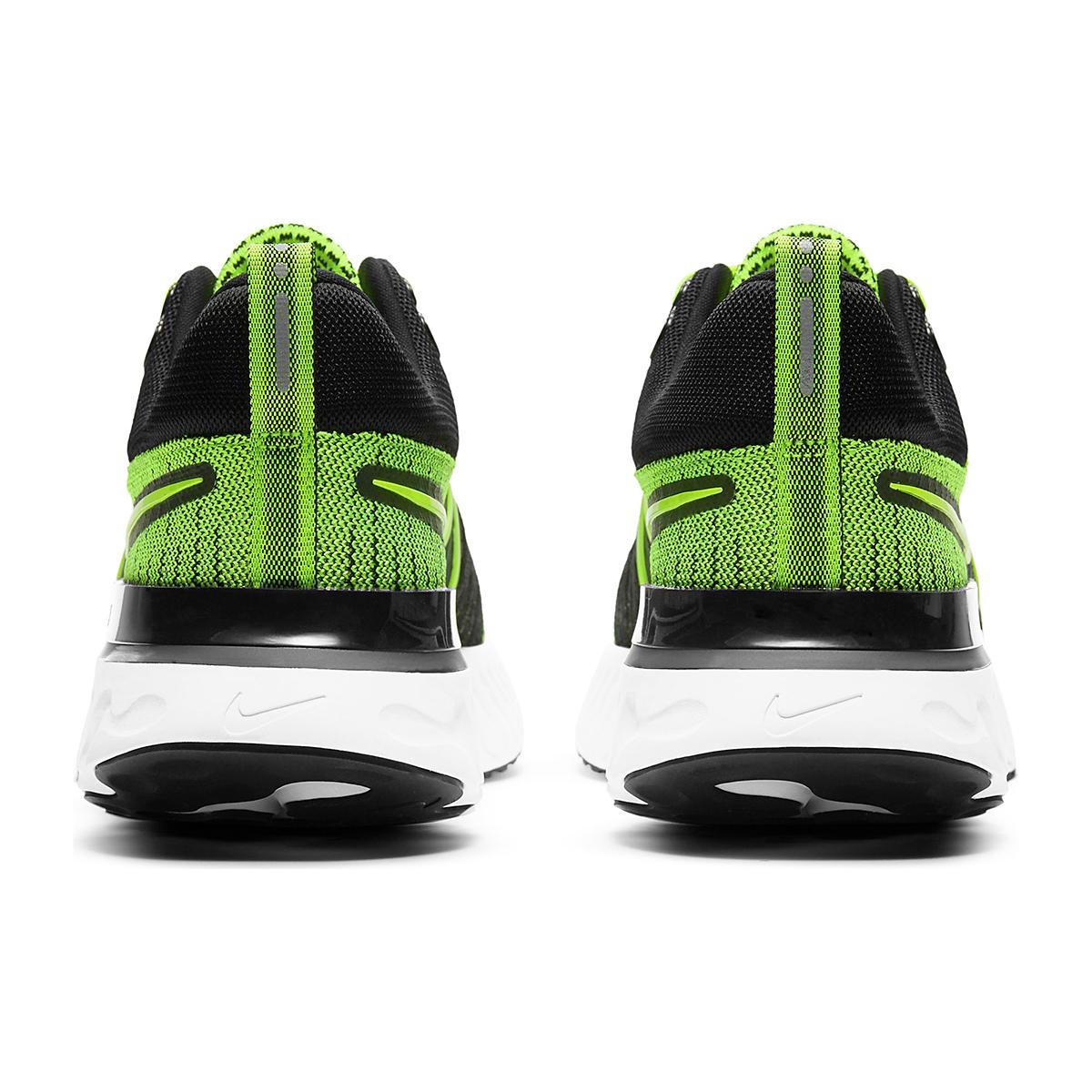 Men's Nike React Infinity Run Flyknit 2 Running Shoe - Color: Volt/Black - Size: 6 - Width: Regular, Volt/Black, large, image 6