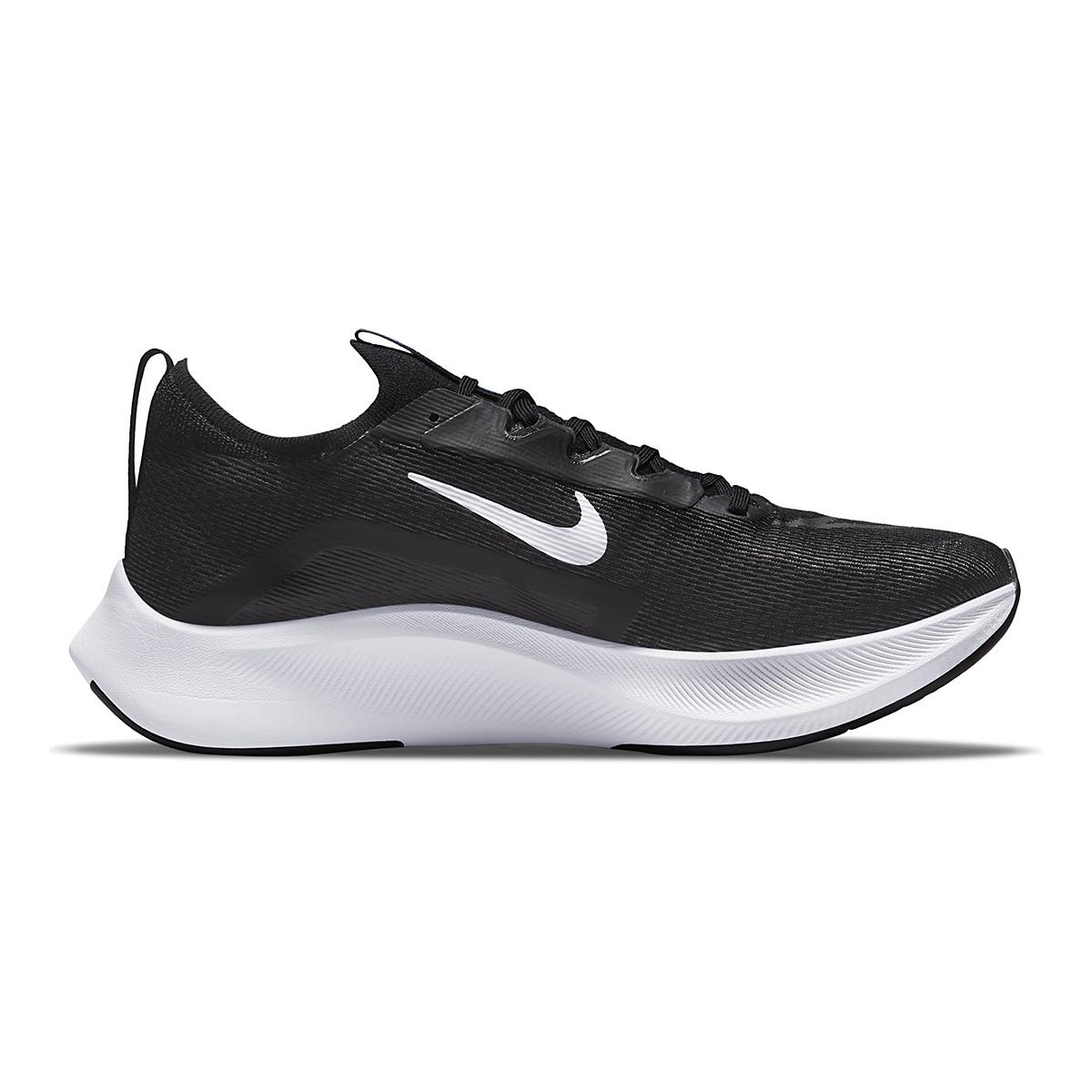 Men's Nike Zoom Fly 4 Running Shoe - Color: Black/White/Anthracite/Racer Blue - Size: 6 - Width: Regular, Black/White/Anthracite/Racer Blue, large, image 1