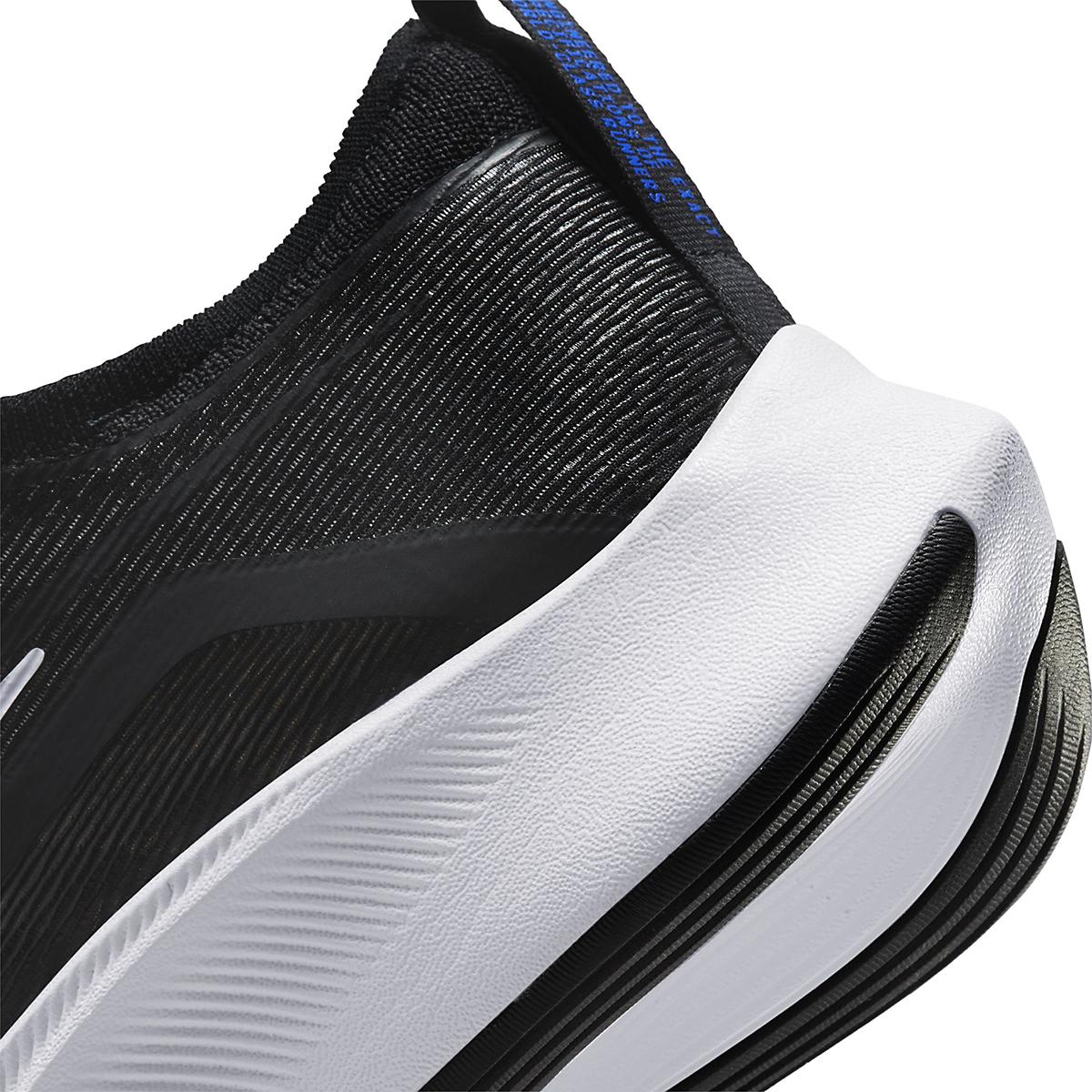 Men's Nike Zoom Fly 4 Running Shoe - Color: Black/White/Anthracite/Racer Blue - Size: 6 - Width: Regular, Black/White/Anthracite/Racer Blue, large, image 4