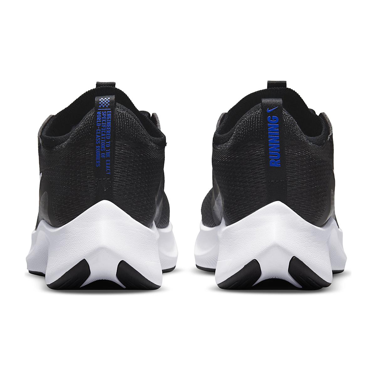 Men's Nike Zoom Fly 4 Running Shoe - Color: Black/White/Anthracite/Racer Blue - Size: 6 - Width: Regular, Black/White/Anthracite/Racer Blue, large, image 5