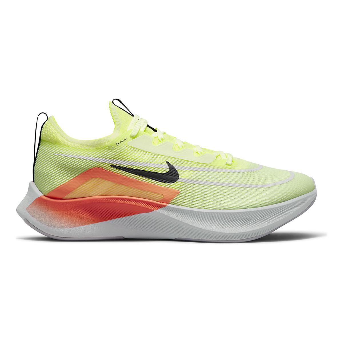 Men's Nike Zoom Fly 4 Running Shoe - Color: Barely Volt/Black/Hyper Orange - Size: 6 - Width: Regular, Barely Volt/Black/Hyper Orange, large, image 1