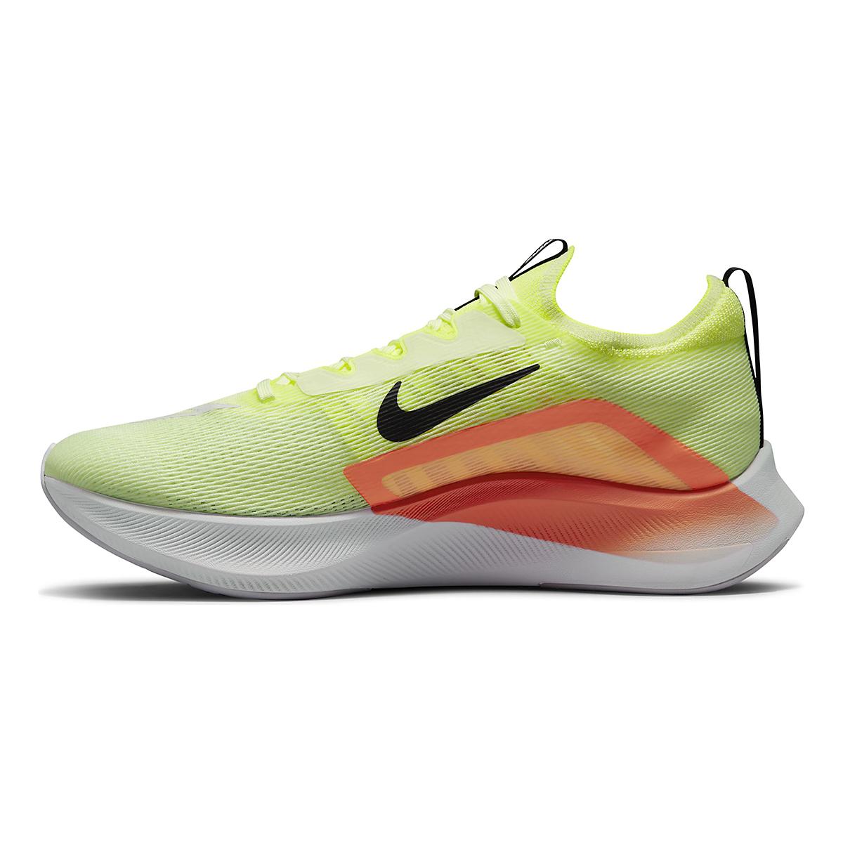 Men's Nike Zoom Fly 4 Running Shoe - Color: Barely Volt/Black/Hyper Orange - Size: 6 - Width: Regular, Barely Volt/Black/Hyper Orange, large, image 2