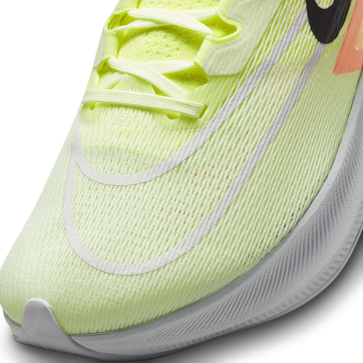 Men's Nike Zoom Fly 4 Running Shoe - Color: Barely Volt/Black/Hyper Orange - Size: 6 - Width: Regular, Barely Volt/Black/Hyper Orange, large, image 3