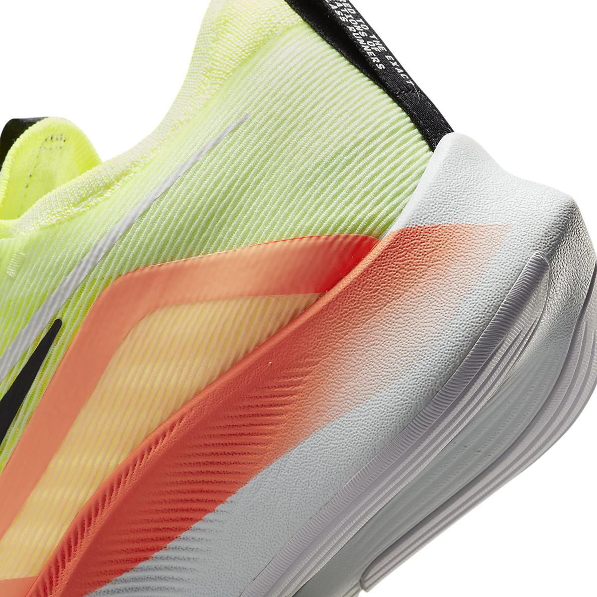 Men's Nike Zoom Fly 4 Running Shoe - Color: Barely Volt/Black/Hyper Orange - Size: 6 - Width: Regular, Barely Volt/Black/Hyper Orange, large, image 4