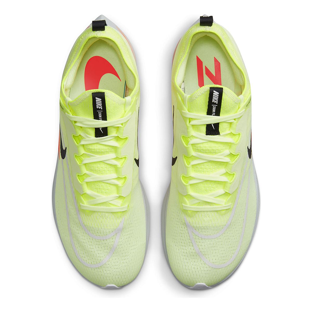Men's Nike Zoom Fly 4 Running Shoe - Color: Barely Volt/Black/Hyper Orange - Size: 6 - Width: Regular, Barely Volt/Black/Hyper Orange, large, image 5