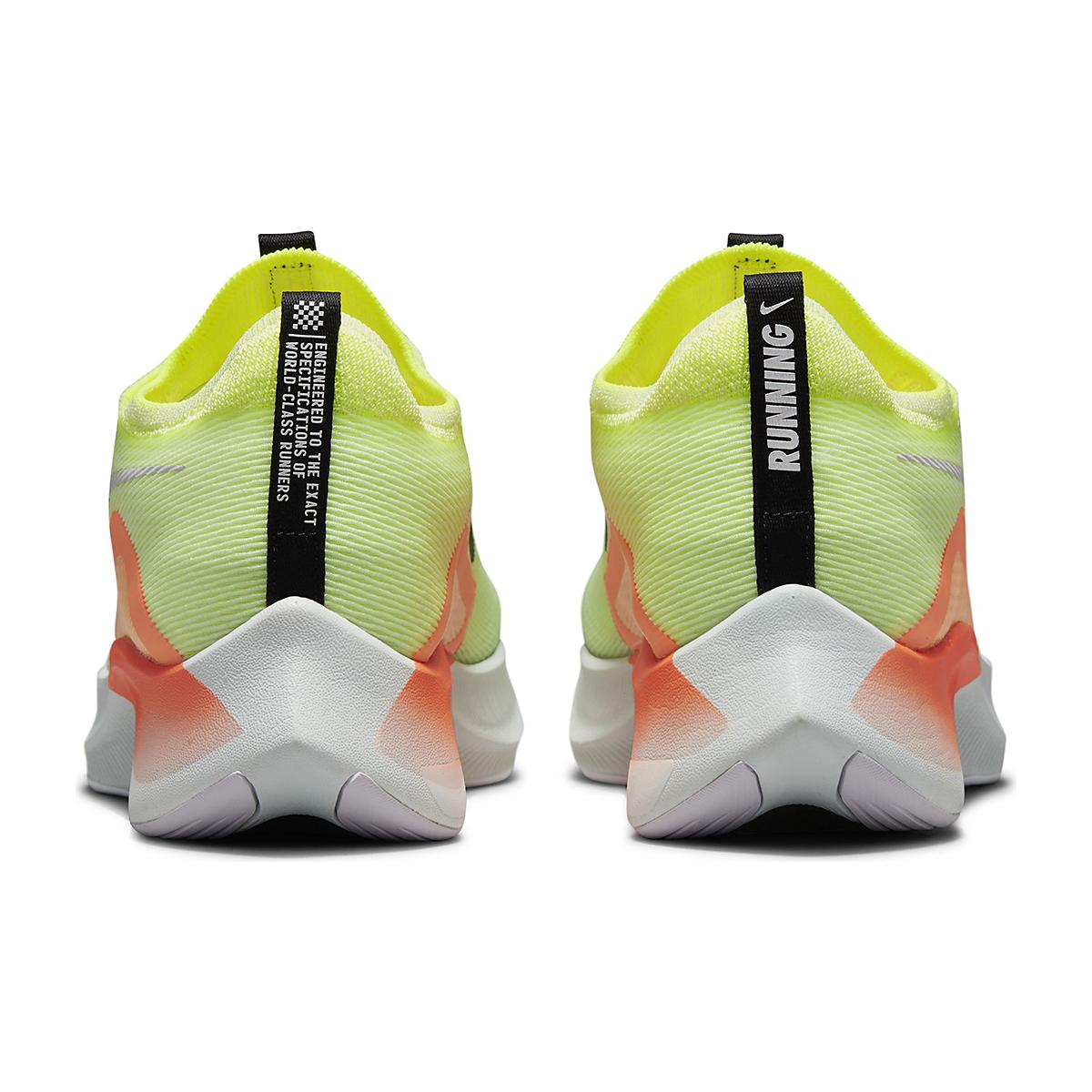 Men's Nike Zoom Fly 4 Running Shoe - Color: Barely Volt/Black/Hyper Orange - Size: 6 - Width: Regular, Barely Volt/Black/Hyper Orange, large, image 6