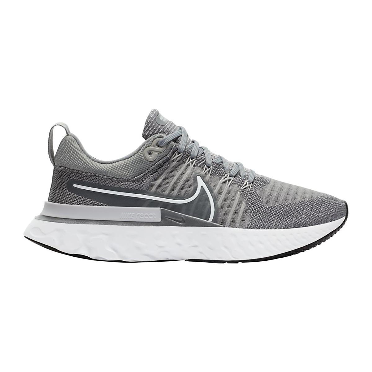 Women's Nike React Infinity Run Flyknit 2 Running Shoe - Color: Particle Grey/White/Grey Fog/Black - Size: 5 - Width: Regular, Particle Grey/White/Grey Fog/Black, large, image 1
