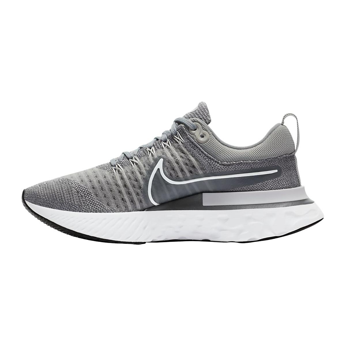Women's Nike React Infinity Run Flyknit 2 Running Shoe - Color: Particle Grey/White/Grey Fog/Black - Size: 5 - Width: Regular, Particle Grey/White/Grey Fog/Black, large, image 2