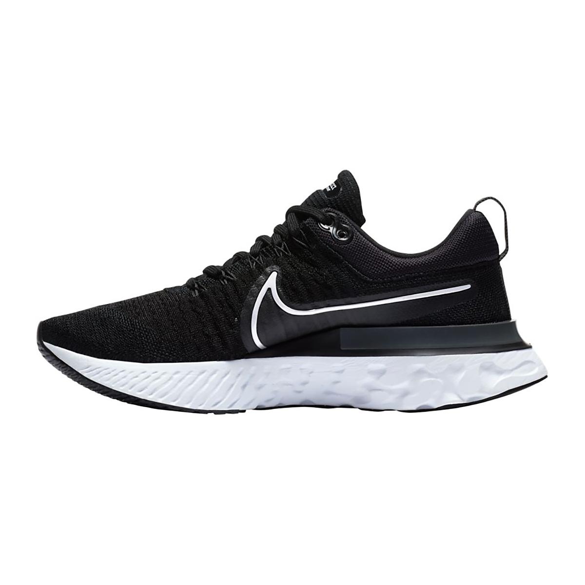Women's Nike React Infinity Run Flyknit 2 Running Shoe - Color: Black/White/Iron Grey - Size: 5 - Width: Regular, Black/White/Iron Grey, large, image 2