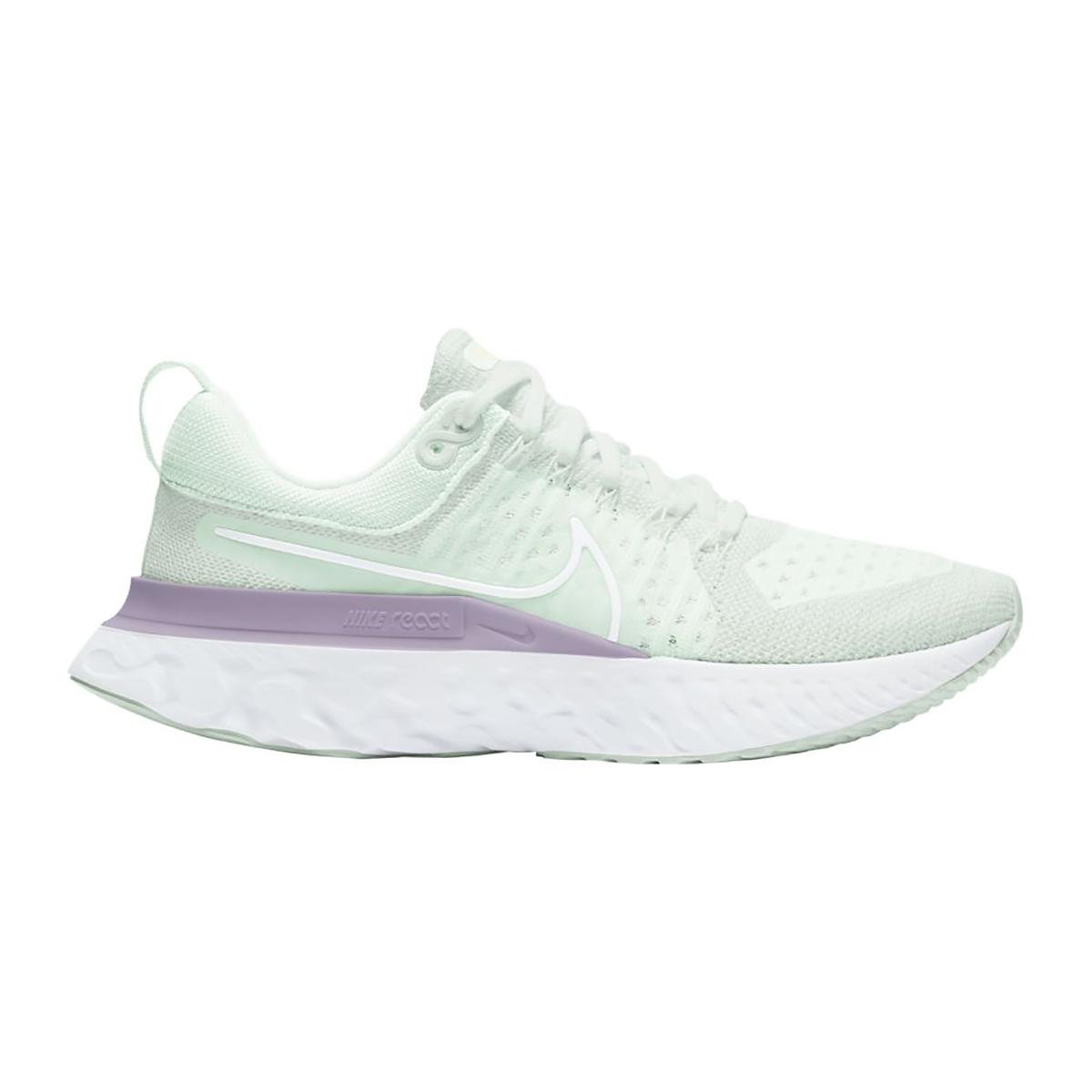 Women's Nike React Infinity Run Flyknit 2 Running Shoe - Color: Light Silver/White/Lilac - Size: 5.5 - Width: Regular, Light Silver/White/Lilac, large, image 1