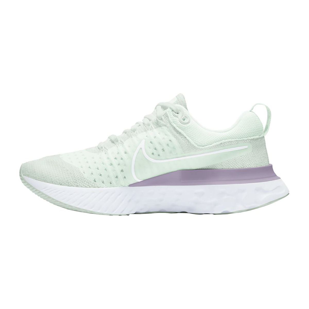 Women's Nike React Infinity Run Flyknit 2 Running Shoe - Color: Light Silver/White/Lilac - Size: 5.5 - Width: Regular, Light Silver/White/Lilac, large, image 2