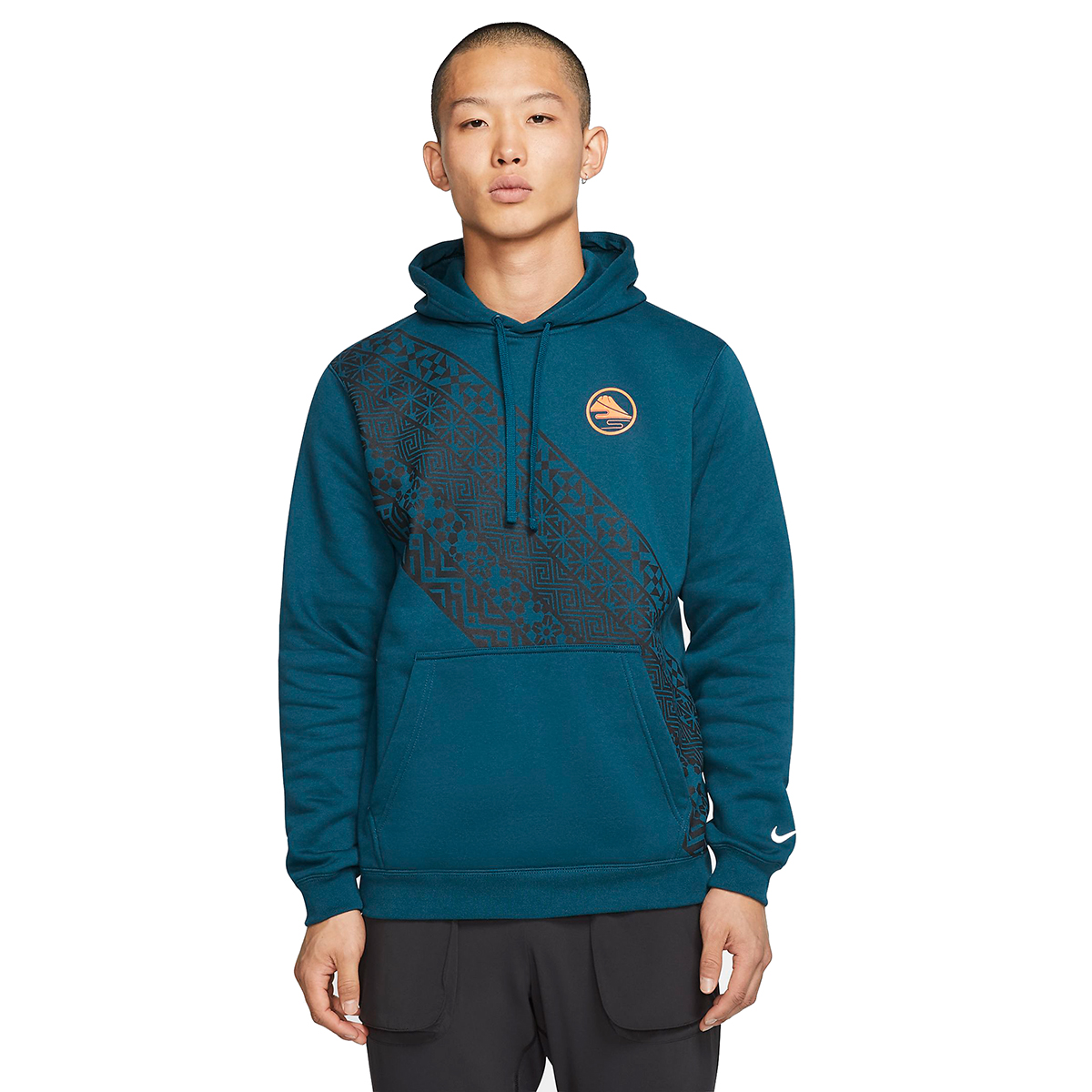 Men's Nike Club Pullover Hoodie  - Color: Midnight Turquoise - Size: XS, Midnight Turquoise, large, image 1