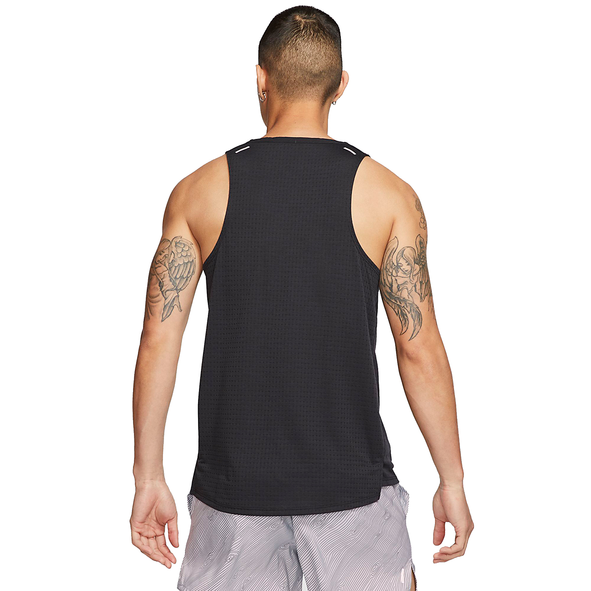 Men's Nike Rise 365 Trail Running Tank - Color: Black/Laser Crimson - Size: S, Black/Laser Crimson, large, image 2