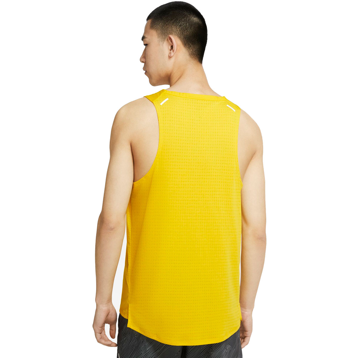 Men's Nike Rise 365 Trail Running Tank - Color: Speed Yellow/Black - Size: S, Speed Yellow/Black, large, image 2