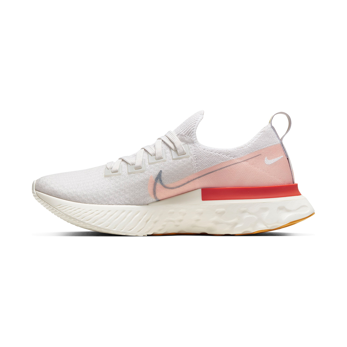 Women's Nike React Infinity Run Flyknit Running Shoe - Color: Platinum Tint/Washed Coral - Size: 5 - Width: Regular, Platinum Tint/Washed Coral, large, image 2