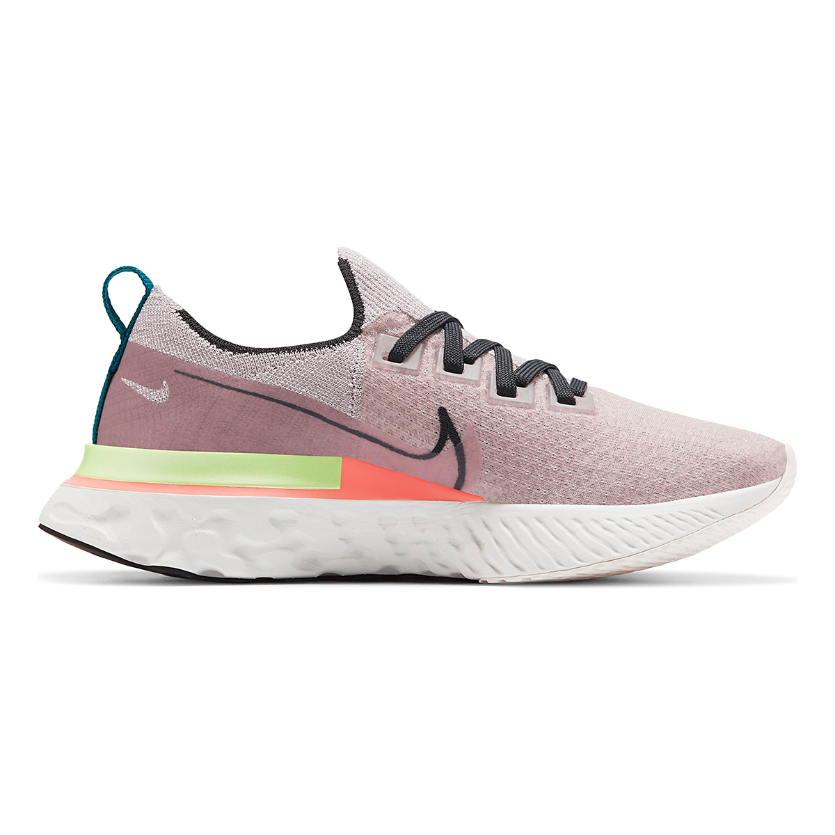 Women's Nike React Infinity Run Flyknit Running Shoe - Color: Violet Ash/Smoke Grey/Pink Blast - Size: 5 - Width: Regular, Violet Ash/Smoke Grey/Pink Blast, large, image 1