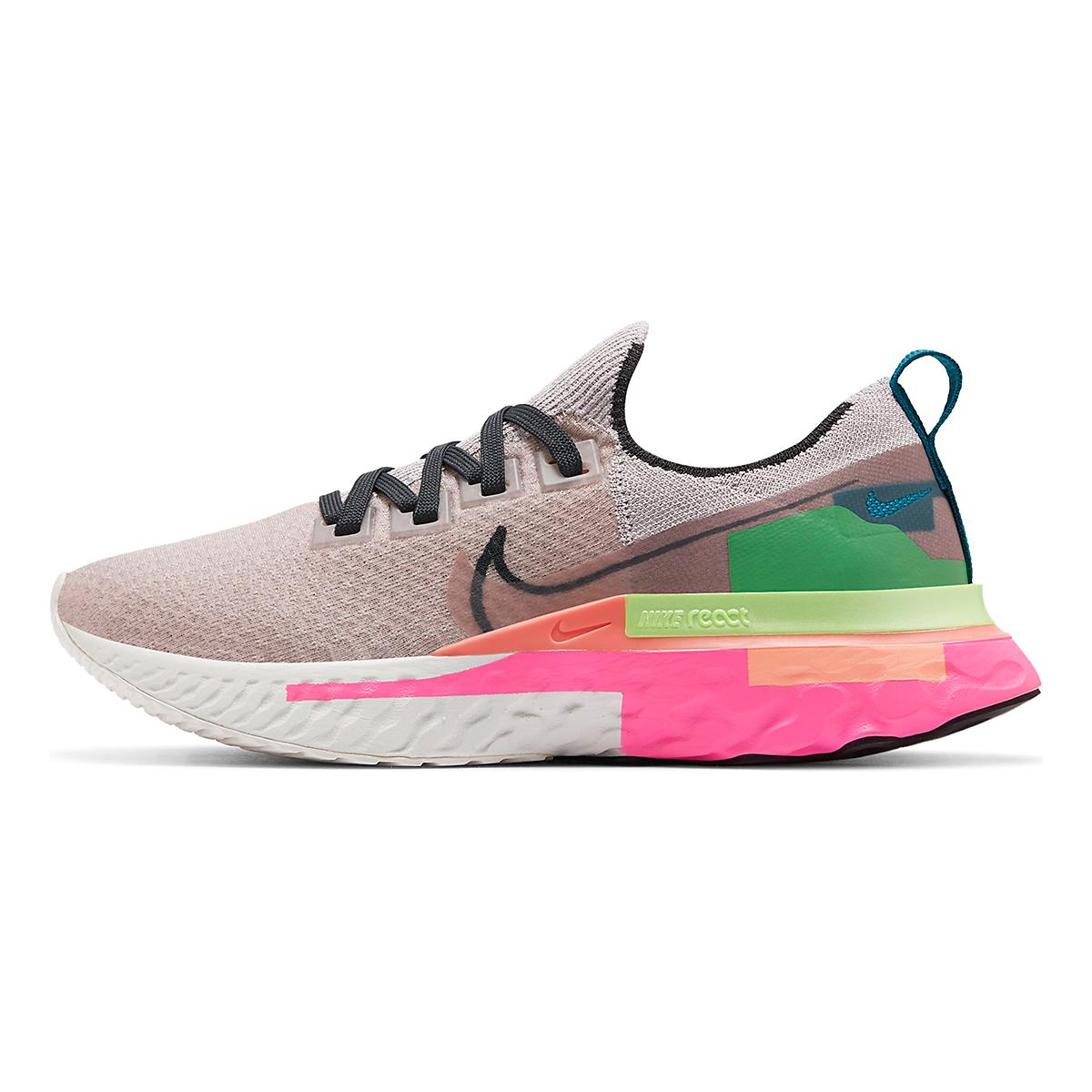 Women's Nike React Infinity Run Flyknit Running Shoe - Color: Violet Ash/Smoke Grey/Pink Blast - Size: 5 - Width: Regular, Violet Ash/Smoke Grey/Pink Blast, large, image 2