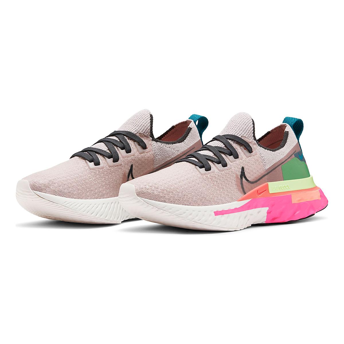 Women's Nike React Infinity Run Flyknit Running Shoe - Color: Violet Ash/Smoke Grey/Pink Blast - Size: 5 - Width: Regular, Violet Ash/Smoke Grey/Pink Blast, large, image 3
