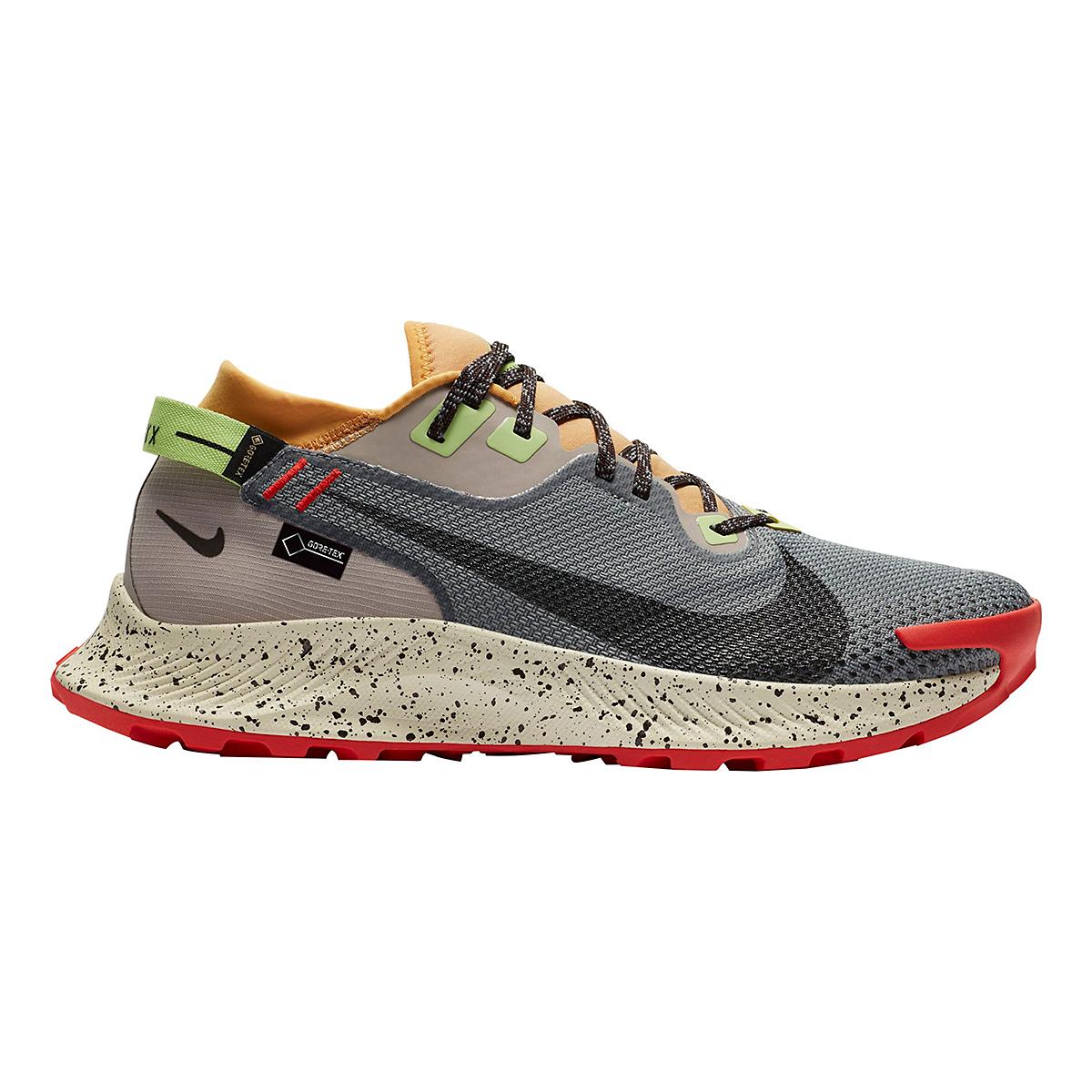 Men's Nike Pegasus Trail 2 Gore-Tex Running Shoe - Color: Smoke Grey/Black-Bucktan-College Grey - Size: 6 - Width: Regular, Smoke Grey/Black-Bucktan-College Grey, large, image 1