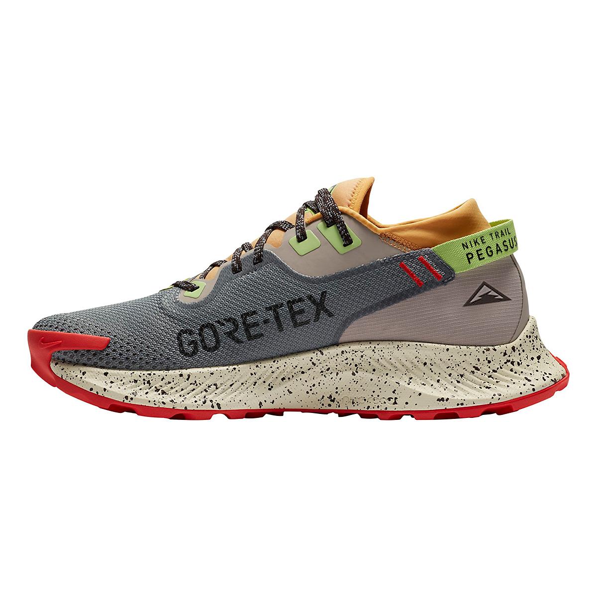 Men's Nike Pegasus Trail 2 Gore-Tex Running Shoe - Color: Smoke Grey/Black-Bucktan-College Grey - Size: 6 - Width: Regular, Smoke Grey/Black-Bucktan-College Grey, large, image 2