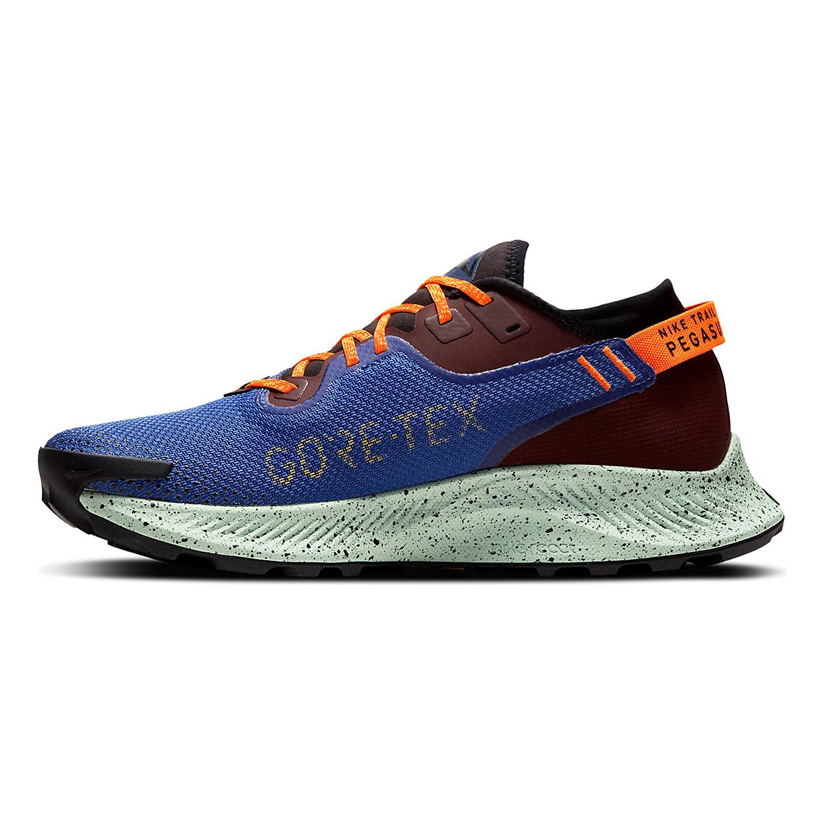 Men's Nike Pegasus Trail 2 Gore-Tex Running Shoe - Color: Mystic Dates/Laser Orange/ Astronomy Blue - Size: 6 - Width: Regular, Mystic Dates/Laser Orange/ Astronomy Blue, large, image 2