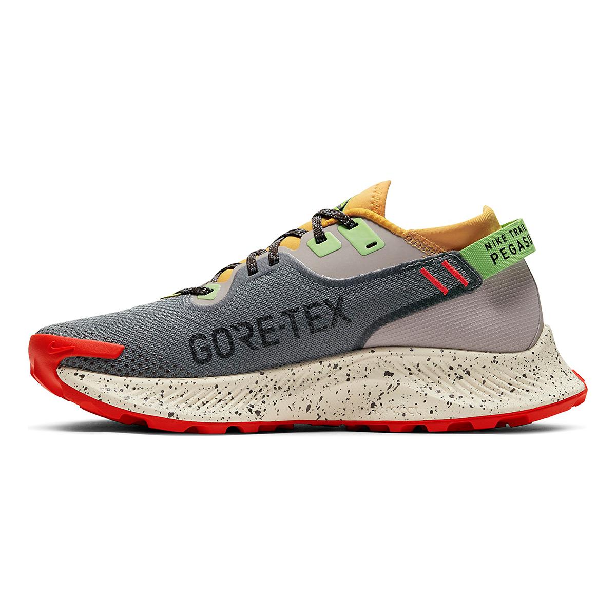 Women's Nike Pegasus Trail 2 Gore-Tex Running Shoe - Color: Smoke Grey/Black-Bucktan-College Grey - Size: 5 - Width: Regular, Smoke Grey/Black-Bucktan-College Grey, large, image 2
