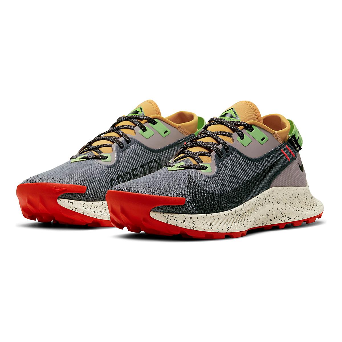 Women's Nike Pegasus Trail 2 Gore-Tex Running Shoe - Color: Smoke Grey/Black-Bucktan-College Grey - Size: 5 - Width: Regular, Smoke Grey/Black-Bucktan-College Grey, large, image 3