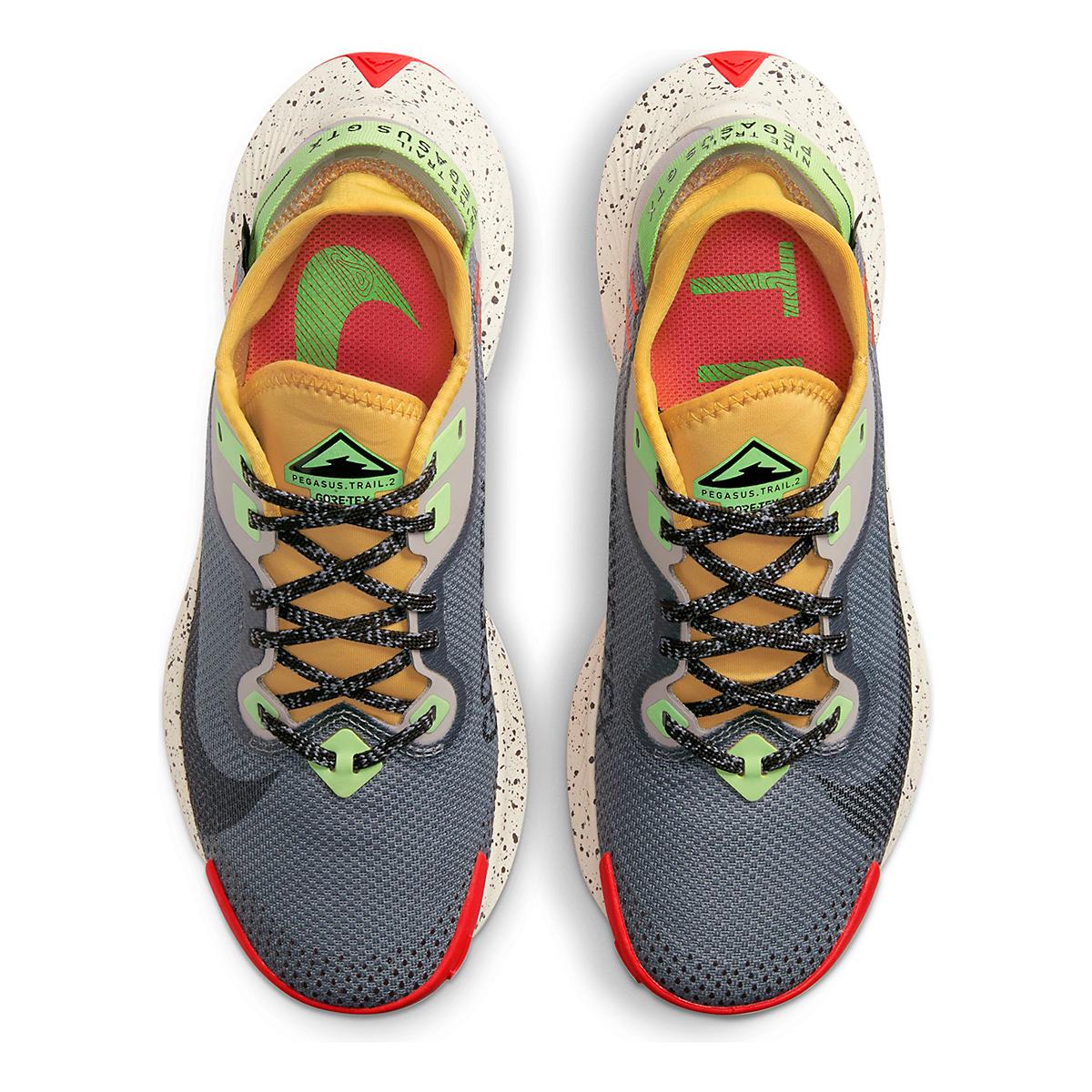 Women's Nike Pegasus Trail 2 Gore-Tex Running Shoe - Color: Smoke Grey/Black-Bucktan-College Grey - Size: 5 - Width: Regular, Smoke Grey/Black-Bucktan-College Grey, large, image 4