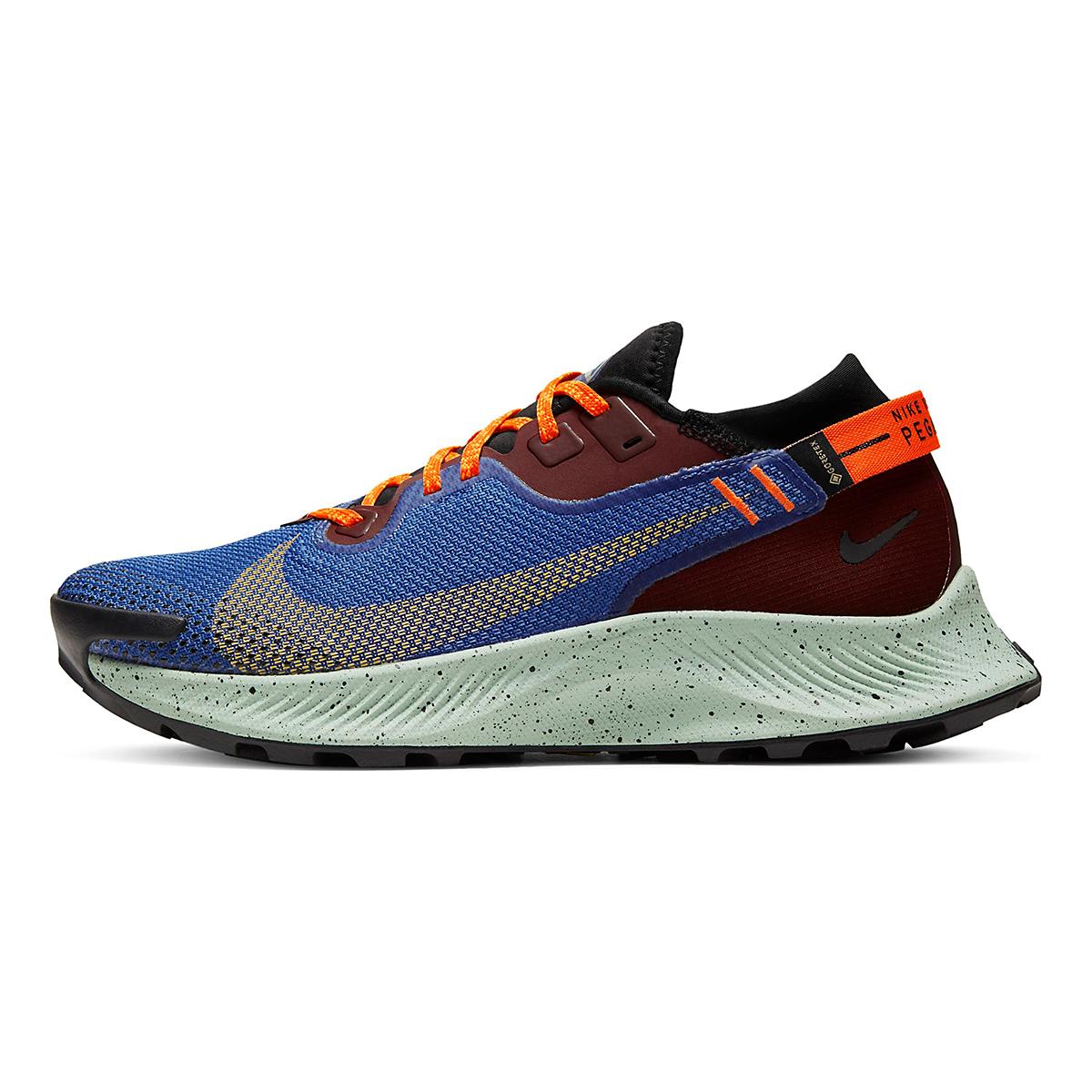 Women's Nike Pegasus Trail 2 Gore-Tex Trail Running Shoe - Color: Mystic Dates/Laser Orange/ Astronomy Blue - Size: 5 - Width: Regular, Mystic Dates/Laser Orange/ Astronomy Blue, large, image 2