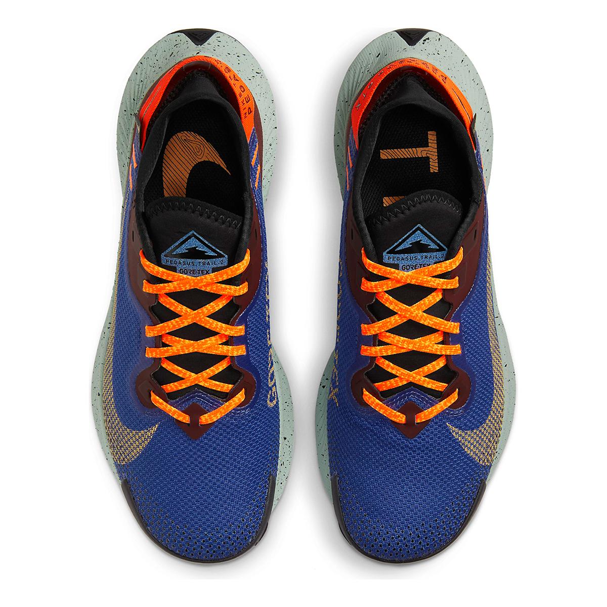 Women's Nike Pegasus Trail 2 Gore-Tex Trail Running Shoe - Color: Mystic Dates/Laser Orange/ Astronomy Blue - Size: 5 - Width: Regular, Mystic Dates/Laser Orange/ Astronomy Blue, large, image 4