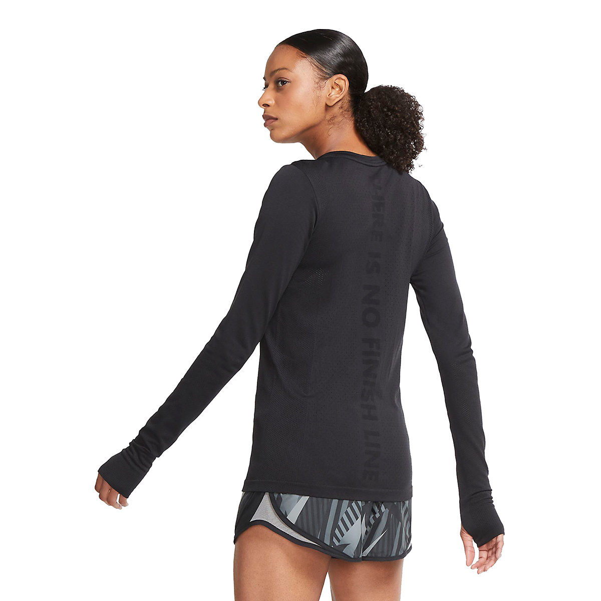 Women's Nike Infinite Running Top Long Sleeve - Color: Black - Size: XS, Black, large, image 2