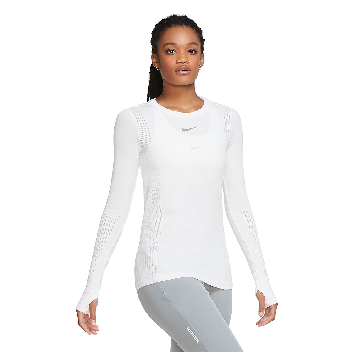 Women's Nike Infinite Running Top Long Sleeve - Color: White - Size: XS, White, large, image 1