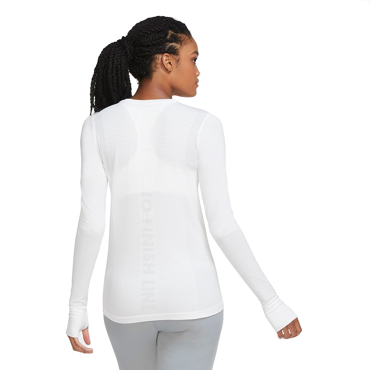 Women's Nike Infinite Running Top Long Sleeve - Color: White - Size: XS, White, large, image 2