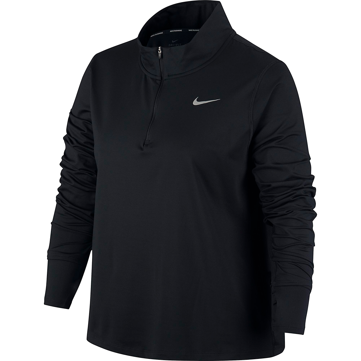 Women's Nike Element 1/2-Zip Running Top - Color: Black - Size: S, Black, large, image 1