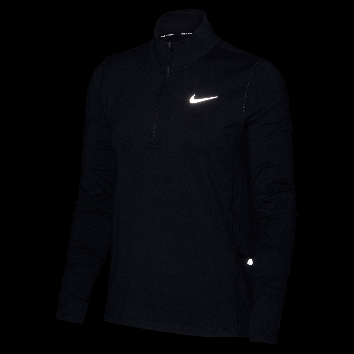 Women's Nike Element 1/2-Zip Running Top - Color: Black - Size: S, Black, large, image 4