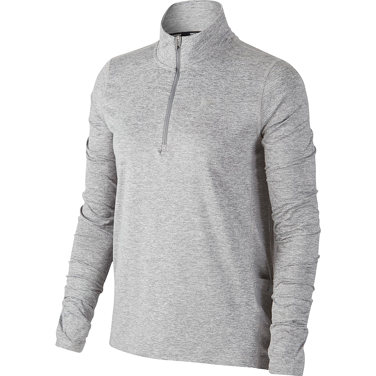 Women's Nike Womens Element 1/2-Zip Running Top - Color: Smoke Grey/Reflective Silver - Size: XS, Smoke Grey/Reflective Silver, large, image 1