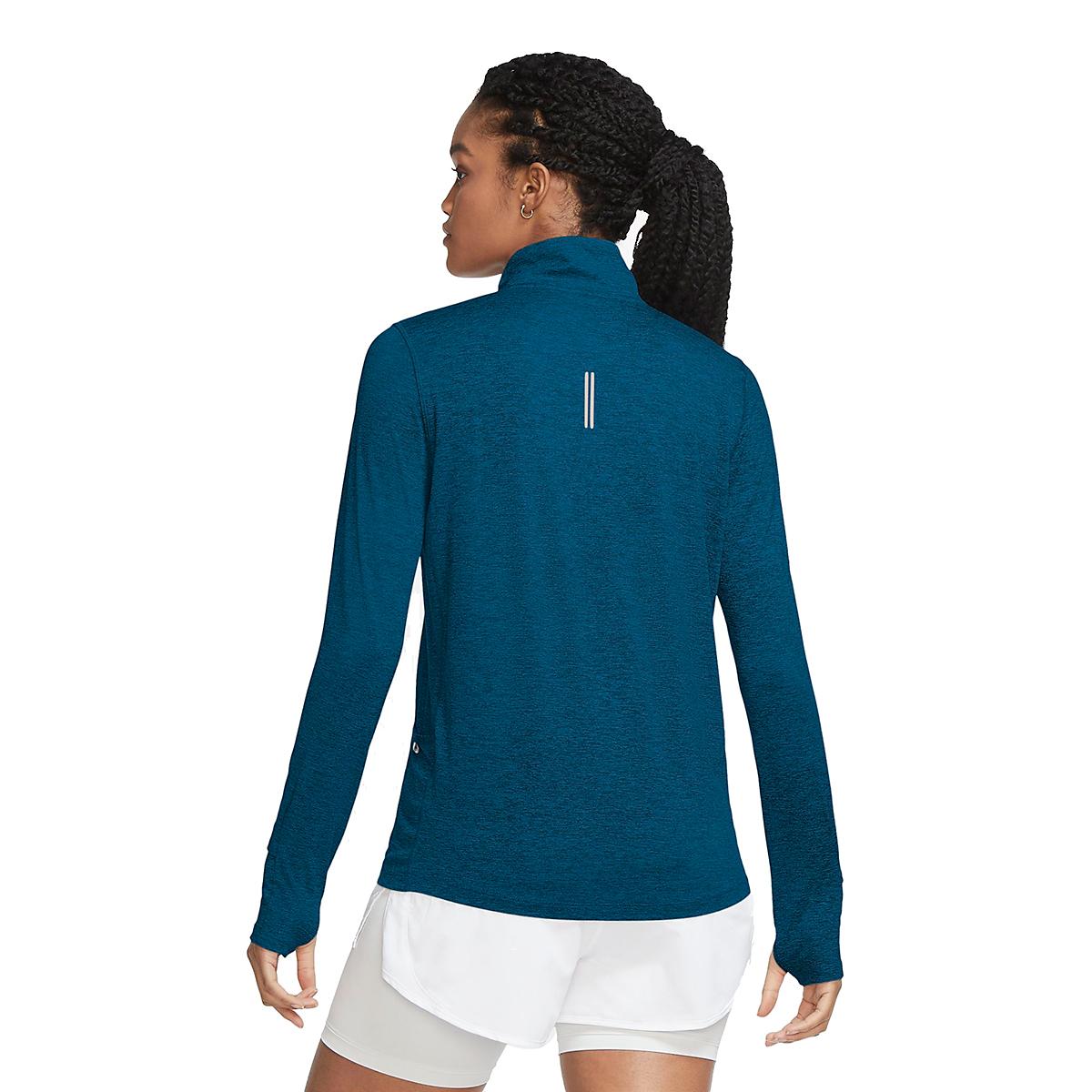 Women's Nike Nike Element 1/2-Zip Running Top - Color: Deep Ocean/Green - Size: XS, Deep Ocean/Green, large, image 2
