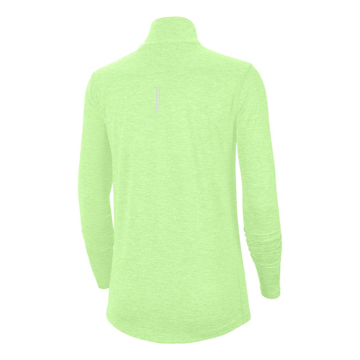 Women's Nike Element Top 1/2 Zip Long Sleeve - Color: Volt/Barely Volt/Htr/Reflective Silver - Size: XS, Volt/Barely Volt/Htr/Reflective Silver, large, image 3